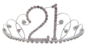 Signature Tiara 21st Birthday Silver with Clear Crystal Tiara