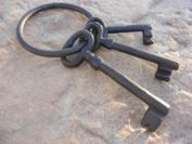 Pirate Ship Skeleton Gaol Keys Set - Cast Iron Costume Prop, Model