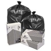 Pitt Plastics Black Star Low-Density Can Liners, 26.5-37.9l 0.35 mil, 20 x 21, Black - Includes 1000 bags.