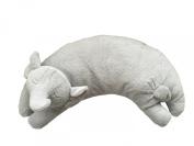 Angel Dear Grey Elephant Curved Pillow.