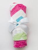 Hot Pink Chevron/Fuchsia Baby Blanket
