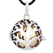 Eudora Harmony Ball Silver Pendant Necklace Musical Pregnant Women Jewellery