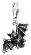 Bat Nenalina Charm Pendant in 925 Sterling Silver finish triple loop carrier 713201-000 for all standard