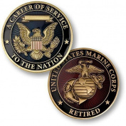 Career of Service Marines Retired Challenge Coin by Northwest Territorial Mint