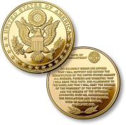 Northwest Territorial Mint Great Seal Oath of Re-Enlistment Merlin gold Challenge Coin by Northwest Territorial Mint
