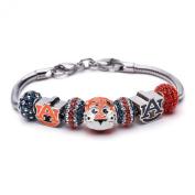 Love Auburn University Tigers Bracelet