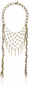 Ettika Marra Brass Necklace, 41cm