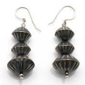 Sterling Silver Fluted Bead Dangles