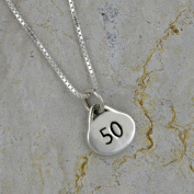Sterling Silver 50 Oval Necklace