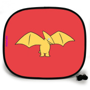 123t ANI-MATES DINO PTERODACTYL PLAIN Baby/Child Vehicle Sunshade x 1