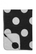 Meyco Baby Blanket Black Label 100% Organic Cotton, 75 x 100 cm, Big Dot, Black / White