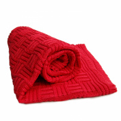 Sonnenstrick 40093A Baby Blanket Knitted 80 x 90 cm Maroon