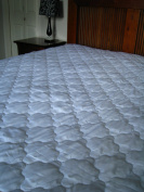 Superking size Microfibre Mattress Protector - Luxury Hotel Quality 233 Thread Count Extra Deep Skirt Machine Wash Anti Allergenic Easy Care Finish