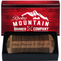 Beard Comb - Sandalwood Natural Hatchet Style Brush for Hair - Scented Fragrance Smell - Anti-Static & No Snag, Handmade Wide & Fine Tooth Contour Brush Best for Beard & Moustache Packaged in Premium Giftbox
