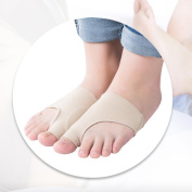 HuaYang Hallux Valgus Toe Foot Protector Corrector Bunion Pads Sleeves Pain Relief 1Pair