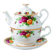 Royal Albert Old Country Roses for One Tea Pot, 490ml, Multicolor