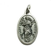 Our Lady Undoer Of Knots Mary Mother Silver Tone Italian Medal Pendant Charm Catholic Made in Italy