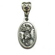 Our Lady Undoer Of Knots Mary Mother Silver Tone Italian Medal Pendant Charm Catholic Religious Made in Italy