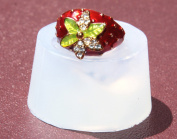 Clear handmade Silicone Mould for Strawberry Rings size 8.