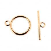 Toggle Clasp T-Bar & Ring Clasps 15mm, Rose Gold Colour, 20 Sets