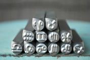 Brand New Supply Guy 6mm Zodiac 12 Piece Metal Punch Design Stamp Set