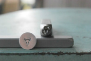 Brand New Supply Guy 5mm Texas Longhorn Metal Punch Design Stamp