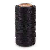 Surepromise Black 260m Yards 0.8mm Leather/CANVAS Sewing Waxed Flat Thread For LeatherCraft DIY