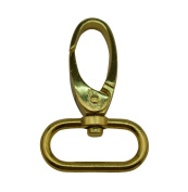Tianbang Golden 2.5cm Inside Dia Oval Ring Olive Lobster Clasp Claw Swivel Eye Hole for Strap Pack of 4