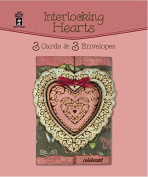 Hot Off the Press Interlocking Hearts HOTP3458 3 Cards and 3 Envelopes