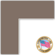 20x30 Pewter Custom Mat for Picture Frame with 16x26 opening size