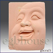 Laughing Buddha Close-up - Detail of High Relief Sculpture - Silicone Soap/polymer/clay/cold Porcelain Mould
