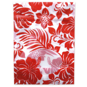 Aloha Goody Gift Bags 6 Per Pack Hibiscus Floral Red