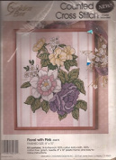 Pink Floral Counted Cross Stitch Kit 8 X10