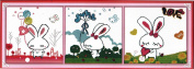 Home Decoration DIY Printed Needlework Sets Counted Cross Stitch Kits Embroidery Kits, Lovely Cartoon Bunnies