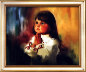 Home Decoration 3D DIY Printed Needlework Sets Counted Cross Stitch Kits Embroidery Kits, The Pray Girl