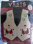 Dimensions Vests Santa Star Vest Felt Applique Kit 80342