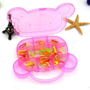 TOPWEL 11 Compartments Hard Plastic Jewellery , Ring Earring,beads, Sewing,pills,accessories Storage Box