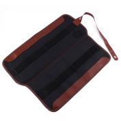 Yosoo Canvas Pencil Wrap,72 Pencil Holder Coloured Pencils Case Roll Brush Holder Pouch Wrap Case