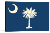South Carolina State Flag - Letterpress