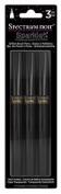 Spectrum Noir 3 PC Sparkle Glitter Brush Pen Clear Overlay