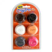 Surebonder CP6-2 6 Piece Wax Pucks with Cray-Pen Painting Tool, Multicolor