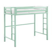 WE Furniture Murdock Twin Metal Loft Bed, Twin, Mint