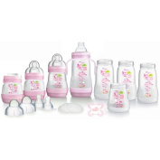 MAM Self-Sterilising Anti-Colic Bottle Starter Set in Pink