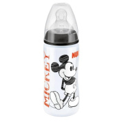 NUK First Choice Mickey and Minnie Mouse 300ml Bottle - Black