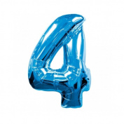 Mayflower Distributing 63707 90cm 4 BLUE NUMBER SHAPE BALLOON -PKG