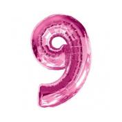 Number 9 Pink SuperShape Foil Balloon