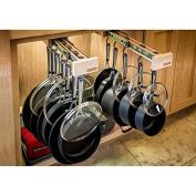 Glideware Glideware Pot & Pan Rack, Chrome, Wood Steel by Glideware