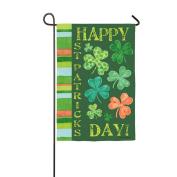 Happy St. Patrick's Day Shamrock Garden Flag