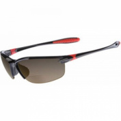 Dual Eyewear SL2 Sunglasses +2.5 Power Magnification Black Brown Lens