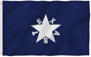 ANLEY® [Fly Breeze] 0.9m x 1.5m Zavala De Lorenzo Texas Polyester Flag - Vivid Colour and UV Fade Resistant - Canvas Header and Double Stitched - Texan History Flags with Brass Grommets 0.9m X 1.5m